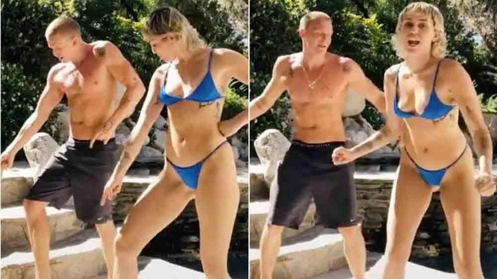 Dancinha de Miley Cyrus com namorado no TikTok viraliza e ganha versões brasileiras