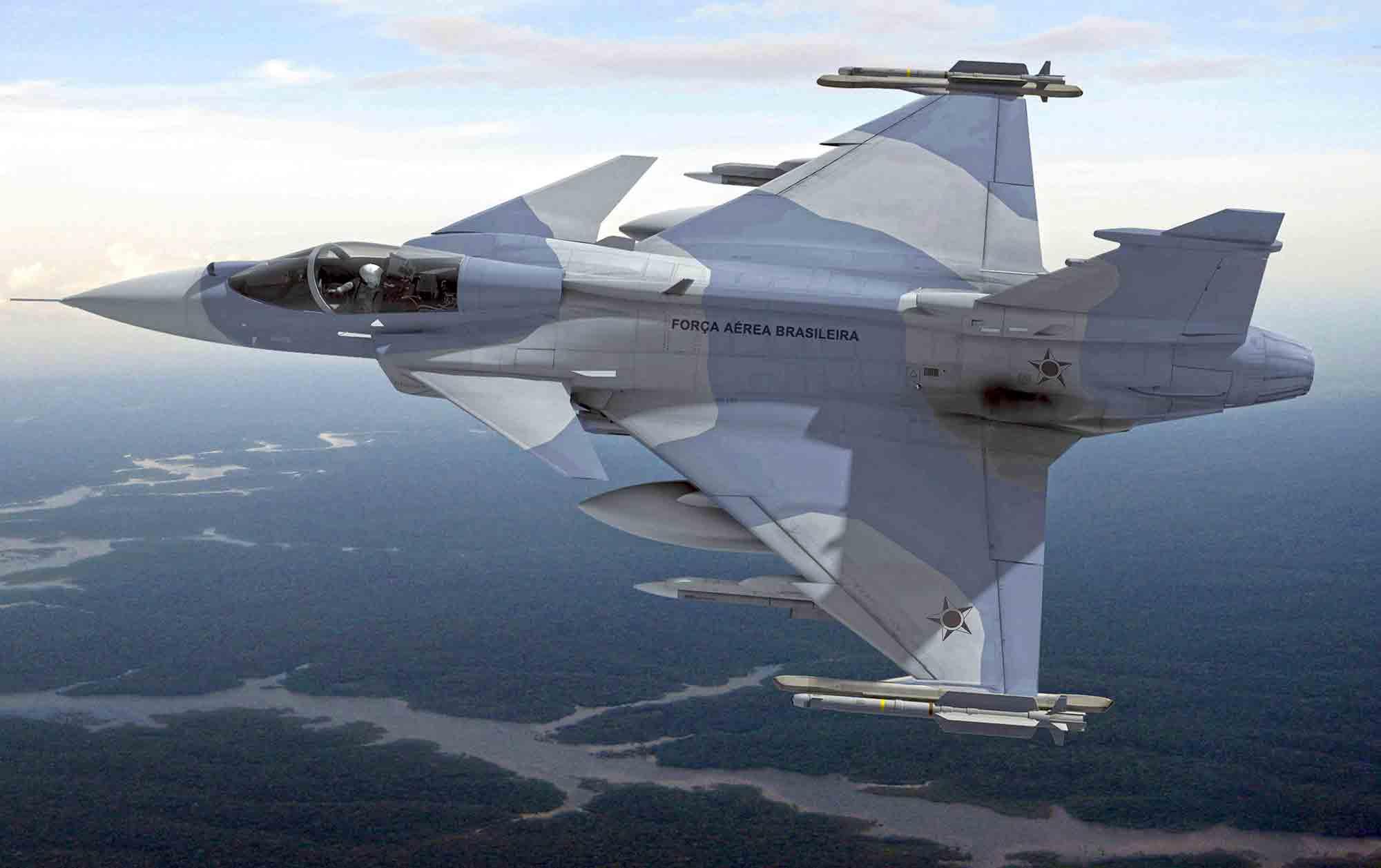 Saab inicia a produção do caça Gripen no Brasil