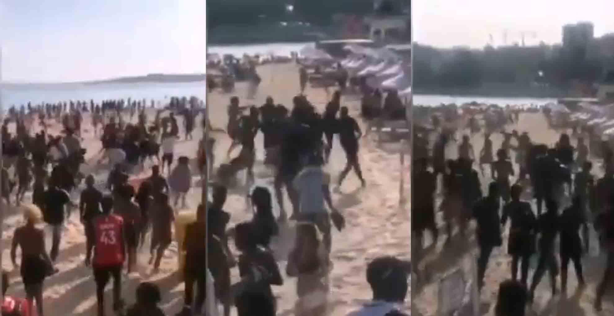 Jovens esfaqueados em briga que envolveu dezenas de pessoas em praia do Estoril