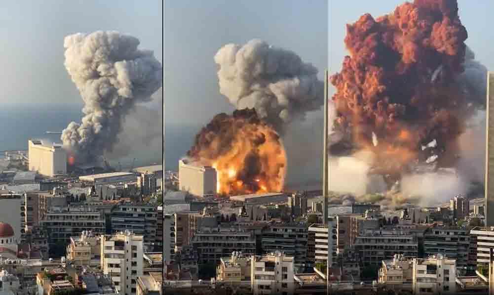Gigantesca explosão deixa mortos e centenas de feridos, veja o vídeo do momento da explosão