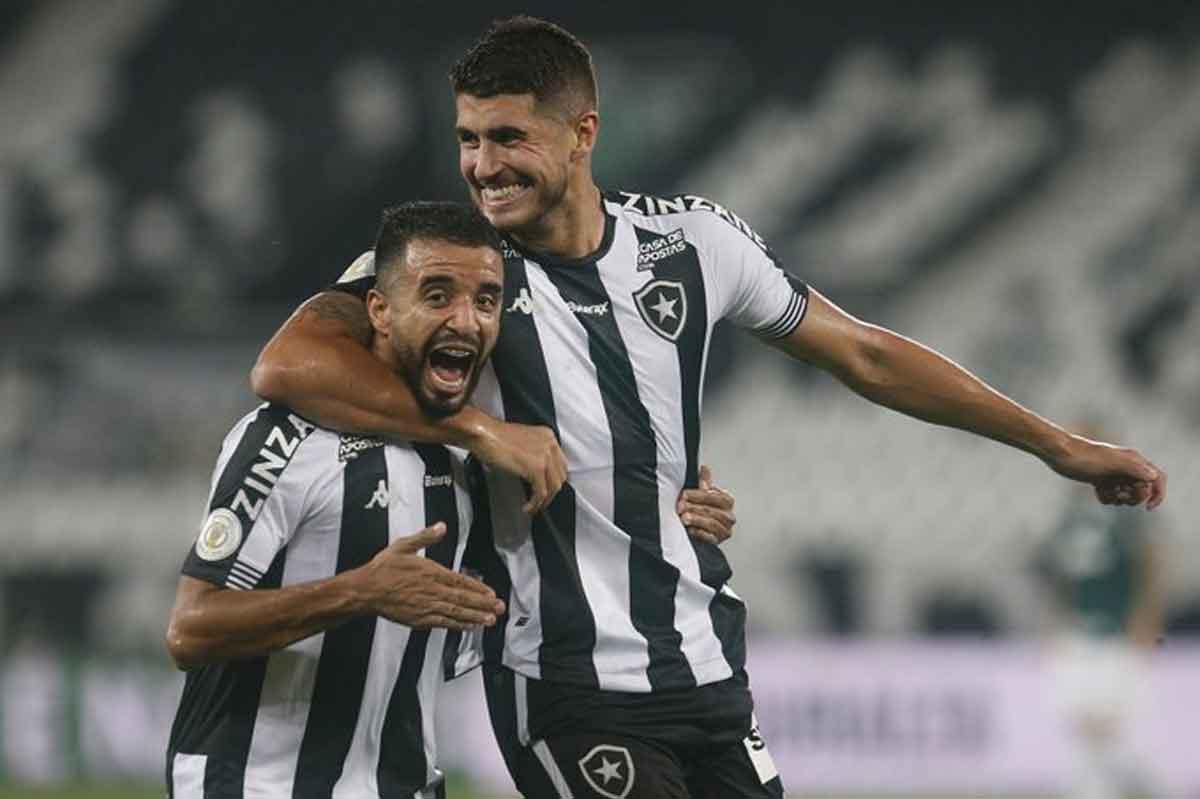 Botafogo vence Palmeiras e derruba último invicto do Brasileiro. Foto: reprodução Twitter/@Botafogo