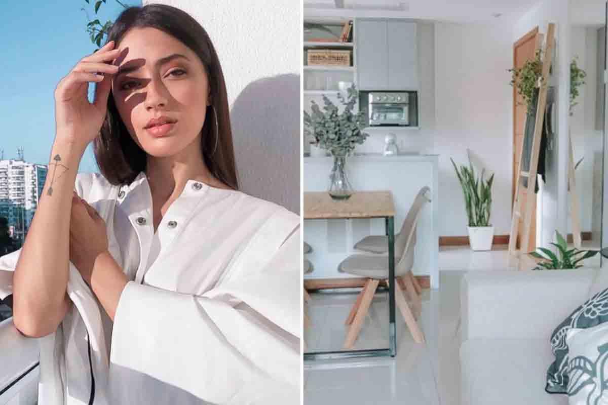 Carolina Oliveira abre as portas do novo apê minimalista no Rio (Foto: Reprodução/Instagram)