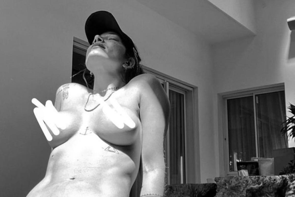 "Gabriela Pugliesi publica foto topless: ""Minha laje, minhas regras"". Foto: Instagram"
