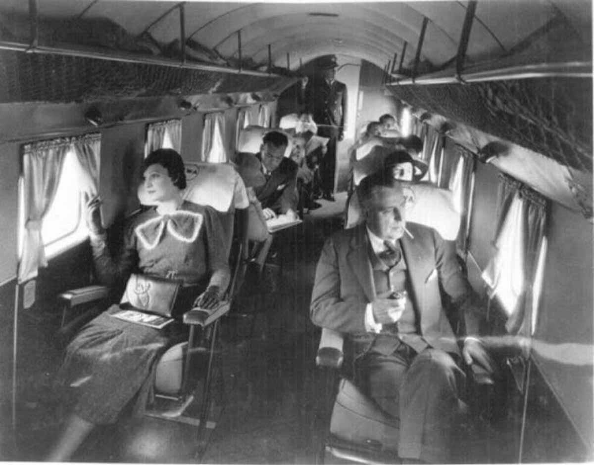 Como era voar num avião de primeira classe em 1930? Veja fotos. Foto: Reprodução
