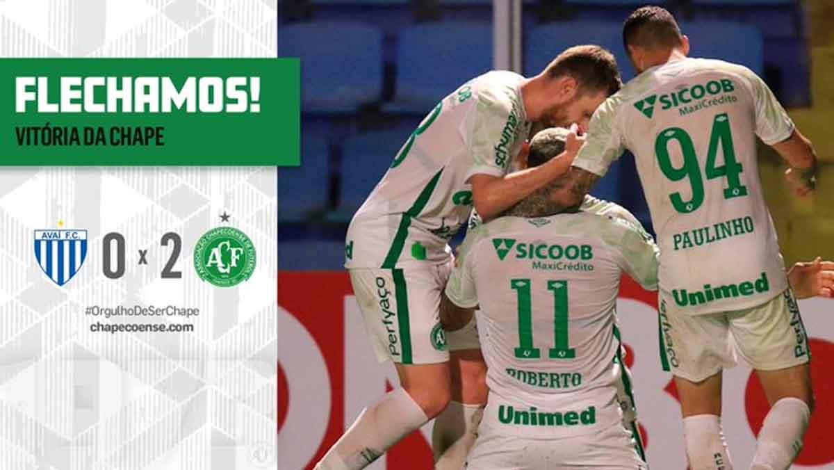 Série B: Chapecoense vence Avaí e segue líder. Foto: Reprodução Twitter