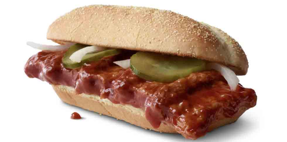 O McDonald's traz oficialmente de volta o McRib. Foto: Divulgação