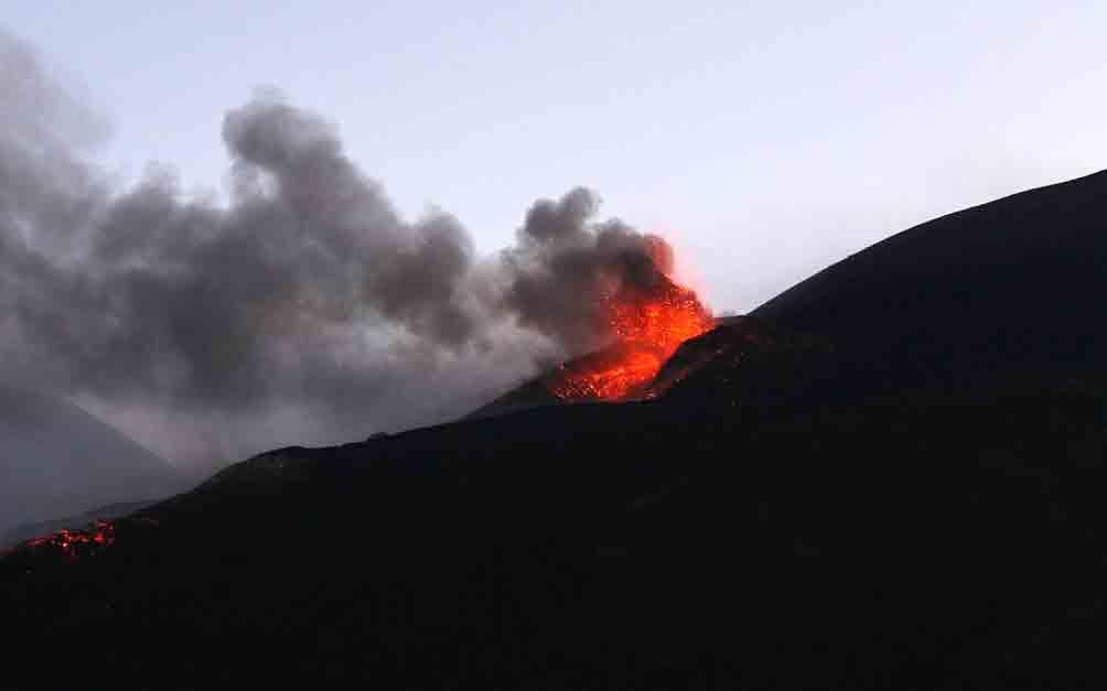 Vulcão Etna entra em erupção. Foto: Pixabay