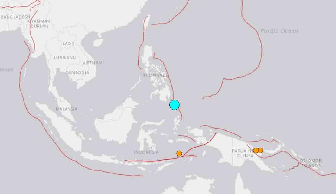 Terremoto de magnitude 7,0 atinge Filipinas e Indonésia nesta 5ª feira (21.jan)