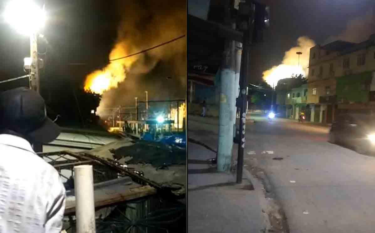 Vídeo: Incêndio em subestação interrompe circulação de trem do ramal Japeri (RJ). Foto: Reprodução facebook