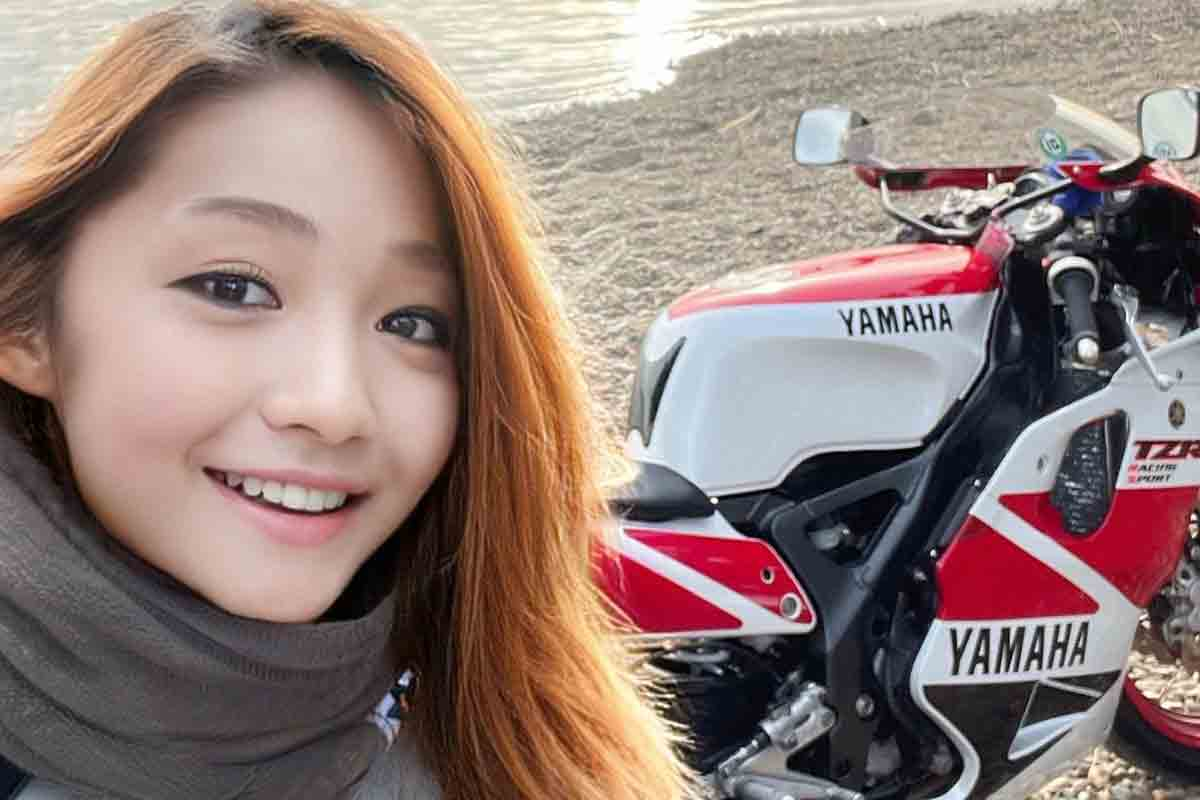 Famosa influencer japonesa motociclista é na verdade um homem de 50 anos, Foto: Reprodução Twitter