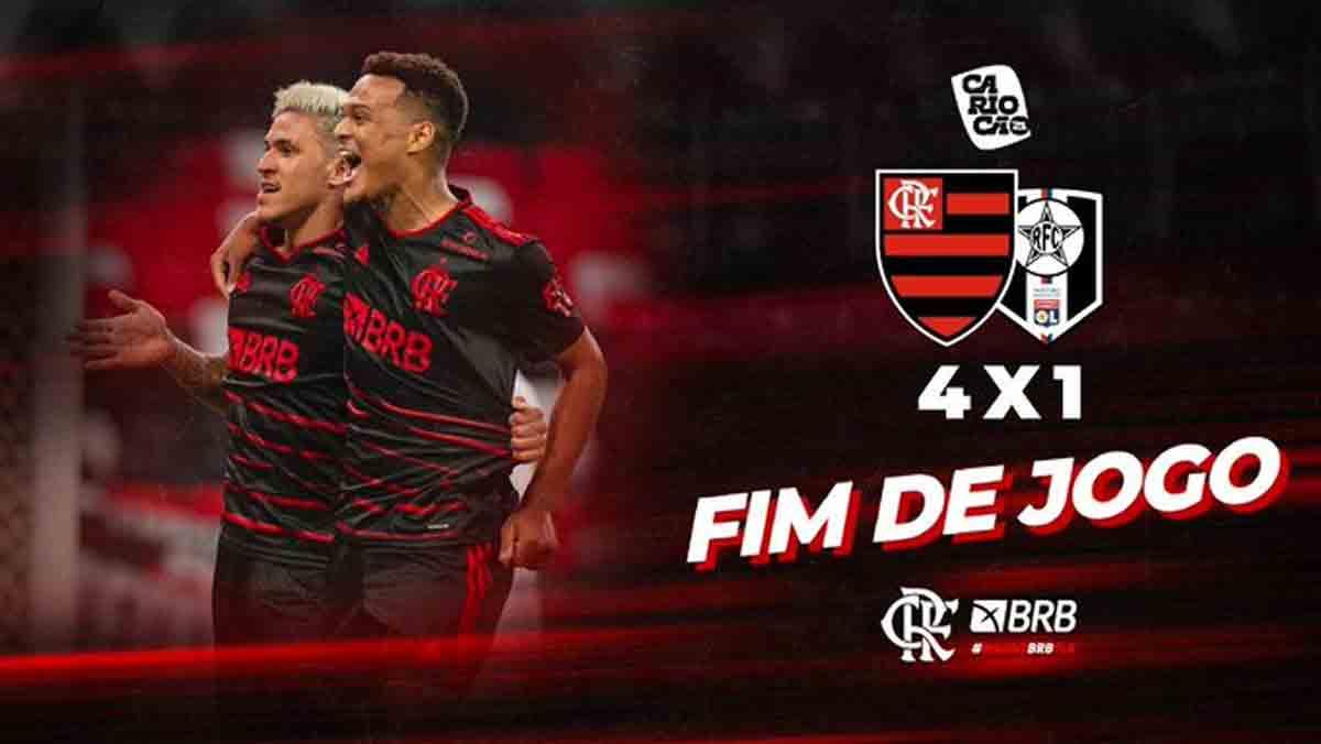 Flamengo supera Resende e assume liderança do Carioca. Foto: Reprodução Twitter