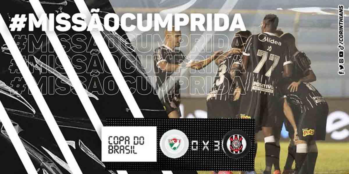 Corinthians derrota Salgueiro por 3 a 0 e avança na Copa do Brasil. Foto: Divulgação