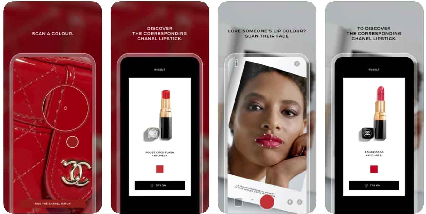 Chanel lança aplicativo para escolha da cor do batom. Foto: reprodução