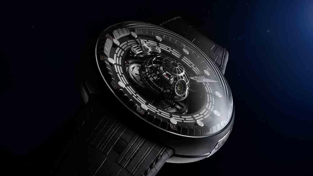 Relógio suíço de R$ 870 mil é inspirado na Estrela da Morte de Star Wars. Foto: Divulgação