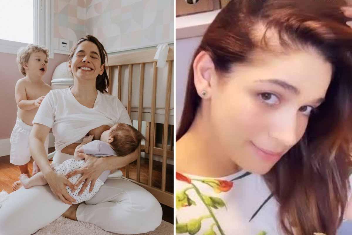 """Sabrina Petraglia revela queda de cabelo após parto: """"Cai mesmo"""" (Foto: Reprodução/Instagram)"""