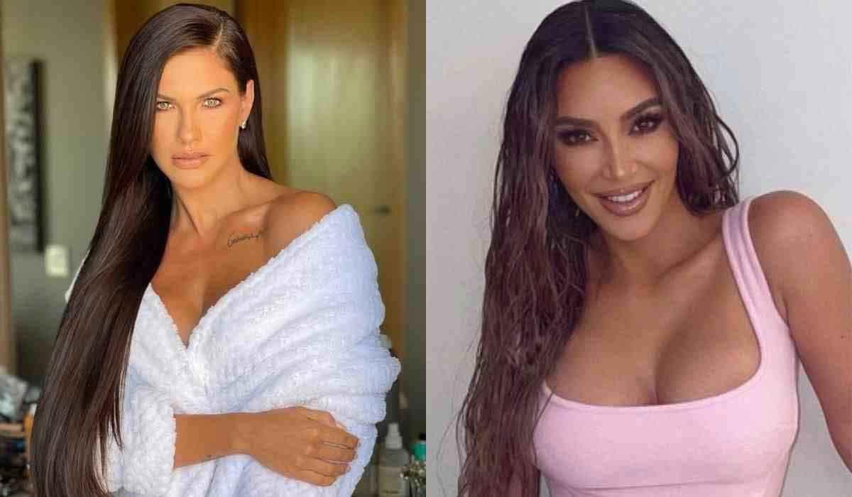 Andressa Suita usa megahair e brinca ao se comparar a Kim Kardashian (Foto: Reprodução/Instagram)