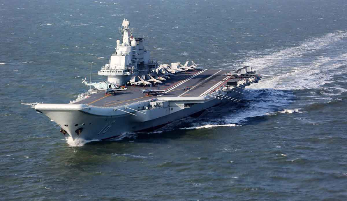Assista ao primeiro vídeo do porta-aviões Liaoning da China recuperar um caça em alto mar. Foto: Reprodução Flikr