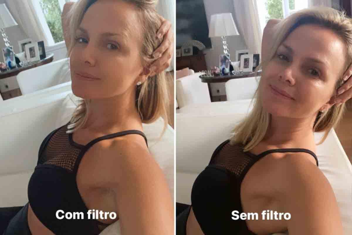 """Eliana posta foto com e sem filtro e reflete: """"Não se engane"""" (Foto: Reprodução/Instagram)"""