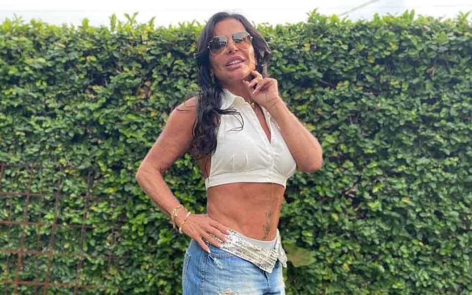 Gretchen fala sobre barriga sarada após acusações de plástica. Foto: Reprodução Instagram