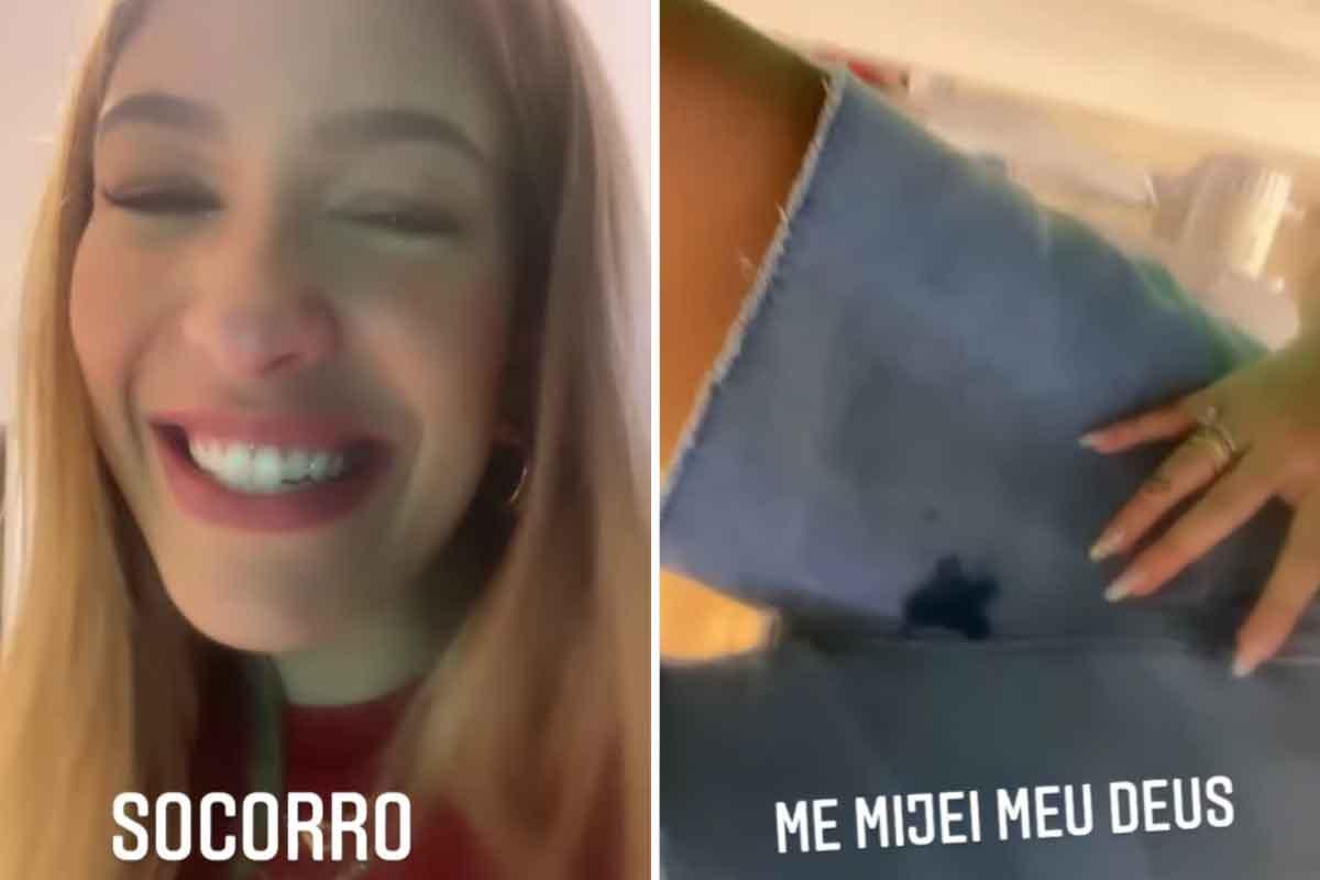 """Grávida, Lore Improta faz xixi nas calças depois de espirrar: """"Não consigo segurar mais"""" (Foto: Reprodução/Instagram)"""