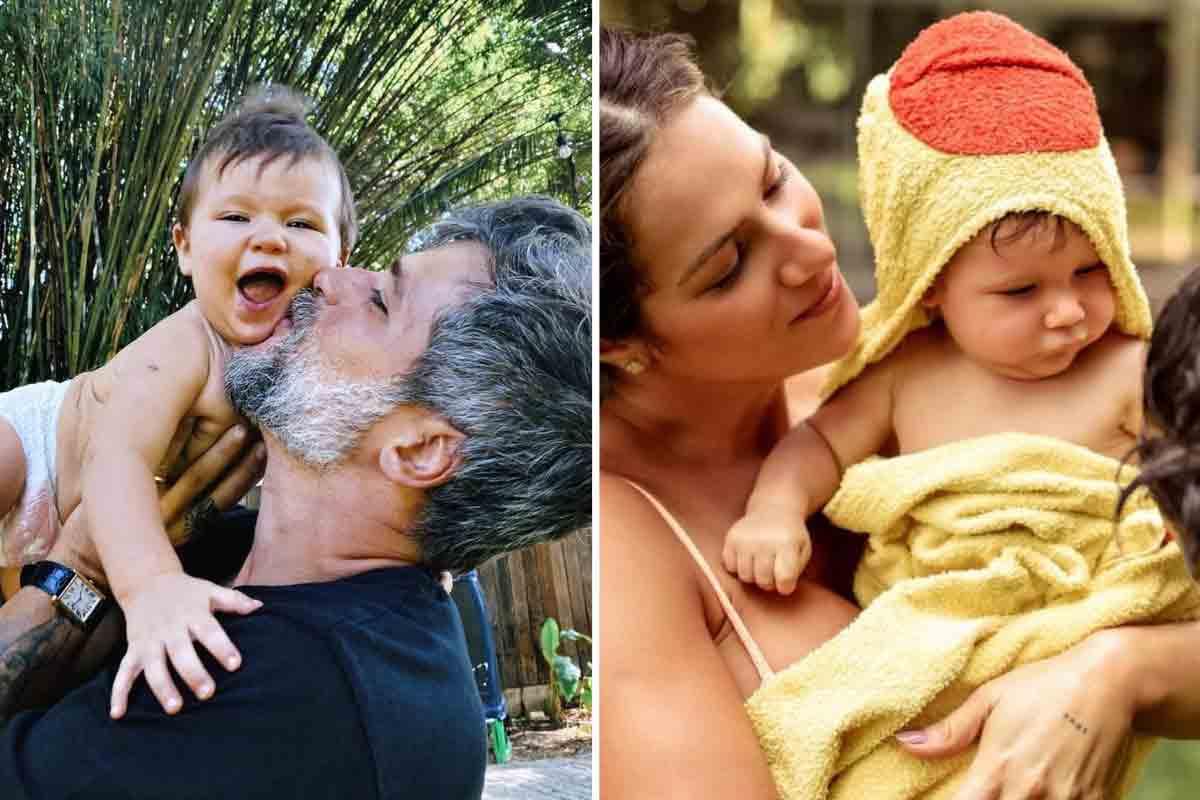 """Giovanna Ewbank e Bruno Gagliasso celebram os 9 meses de Zyan: """"Dia é todo dele"""" (Foto: Reprodução/Instagram)"""