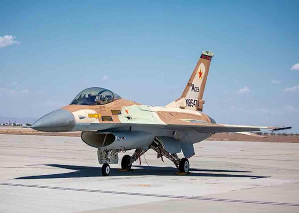 Caça F-16 civil recebe autorização de voo nos EUA. Foto: Divulgação