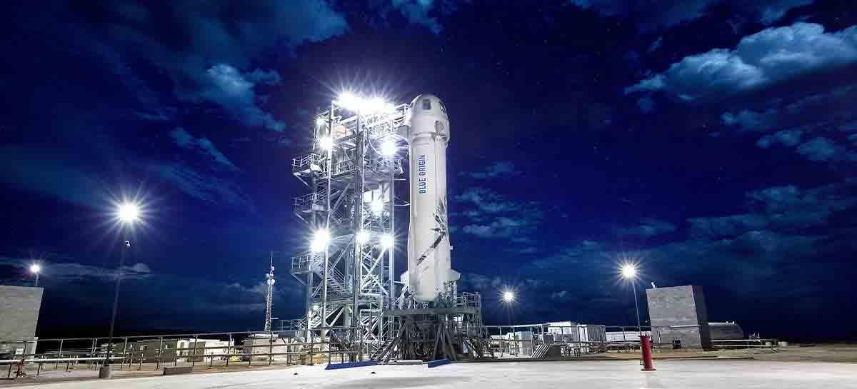 Blue Origin anuncia primeiro voo tripulado para julho e ainda há lugar. Foto: Divulgação/Blue Origin