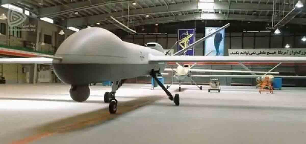 Irã revela o Gaza, um drone capaz de voar por até 35 horas. Foto: Reprodução