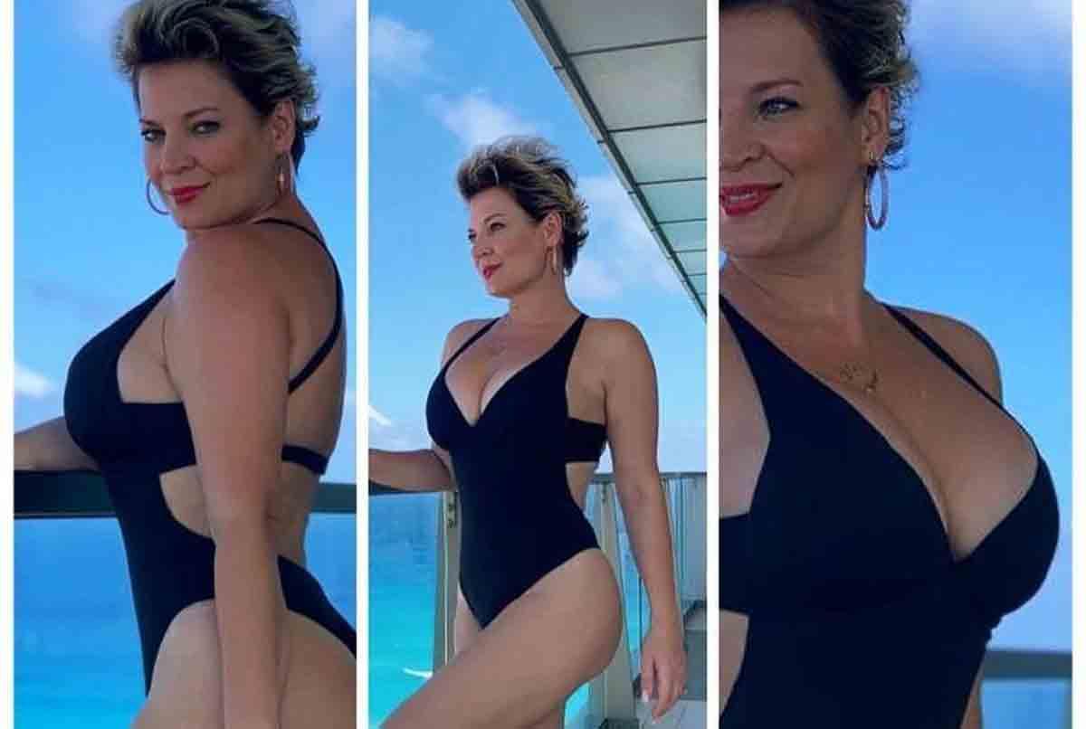 Joice Hasselmann exibe antes e depois de maiô após perder 24 quilos (Foto: Reprodução/Instagram)