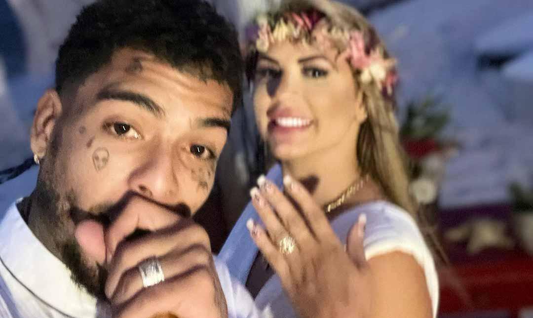 Há duas semanas, MC Kevin casou com a advogada Deolane Bezerra em uma praia do México. Foto: Reprodução Instagram