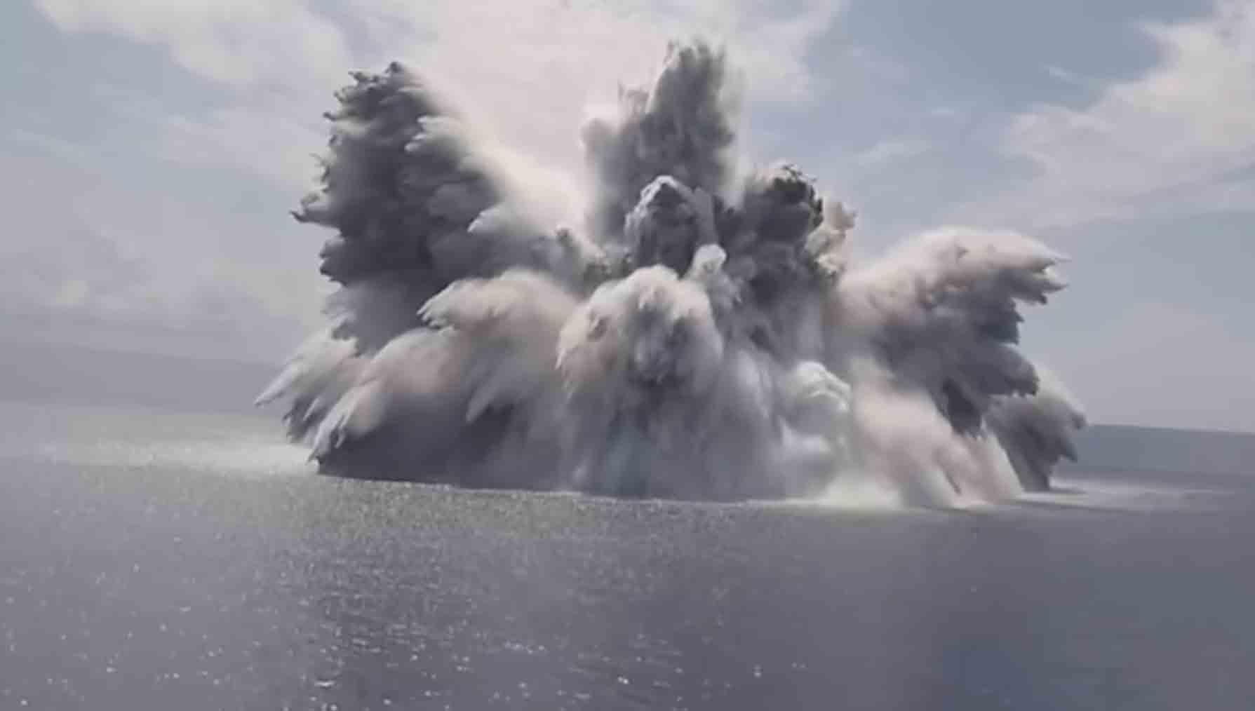 Vídeo: O mais novo porta-aviões dos EUA passa por testes de explosivos na costa da Flórida. Foto: Reprodução Youtube