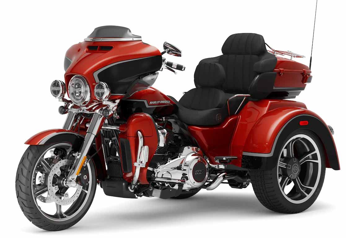 Harley CVO Tri Glide. Foto: Divulgação
